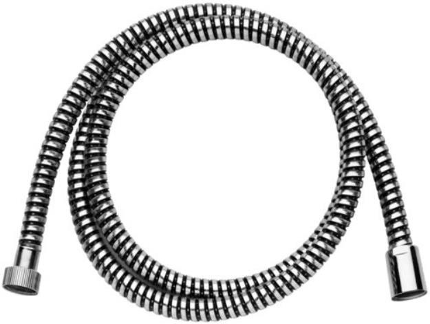 """Immagine di FLESSIBILE PVC STRONG 1/2""""GX1/2""""G CON CALOTTA CONICA L 2000MM CROMATO"""