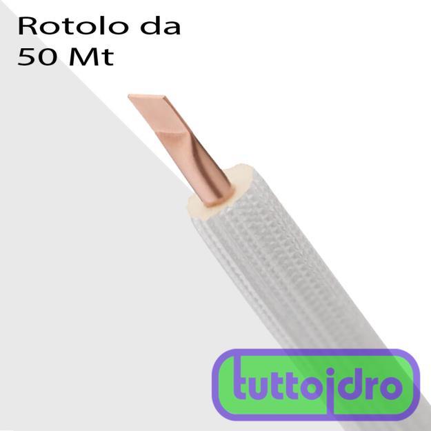 Immagine di TUBO RAME CONDIZ. RIV. BIANCO ISO-CLIMA 3/8X1MM  MISURA 3/8 X 1 MM  -  ROTOLI DA 50 MT